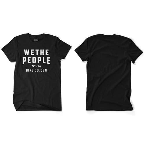 Wethepeople Cologne T-Shirt Black White Large